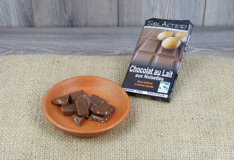 Chocolat 40% cacao au lait aux noisettes