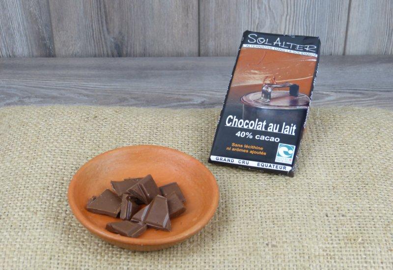 Chocolat 40% cacao au lait