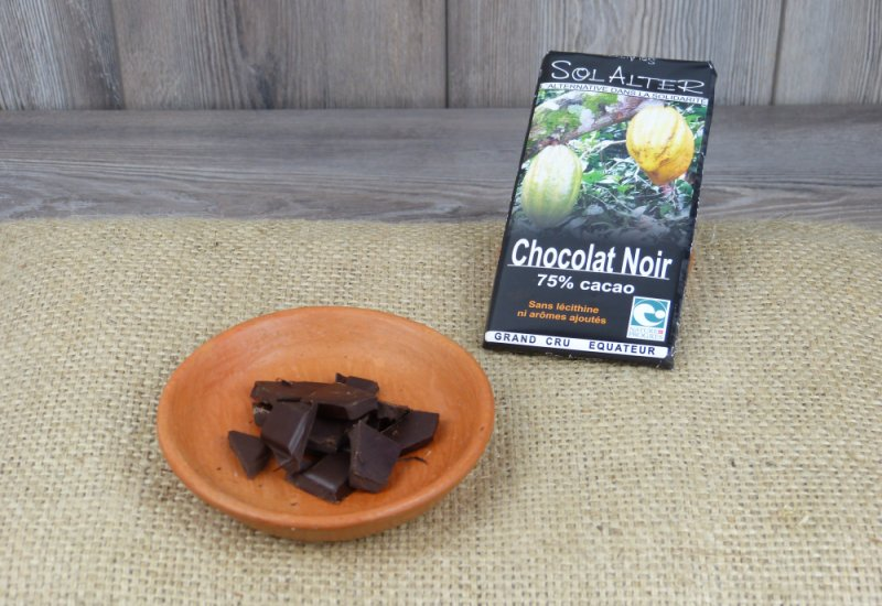 Chocolat 75% cacao
