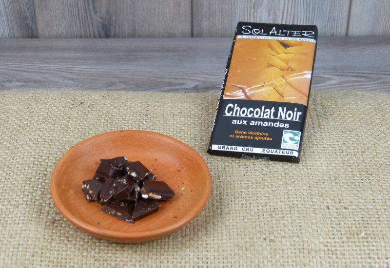 Chocolat 65% cacao aux amandes