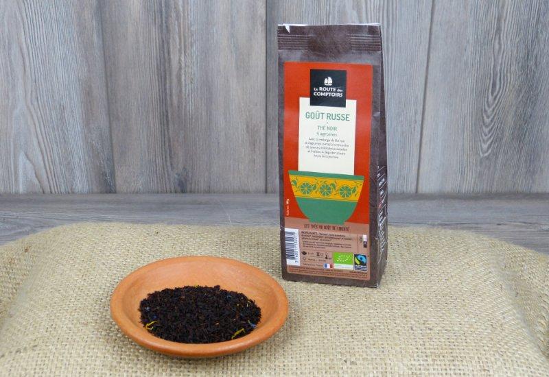 Thé noir goût russe - 4 agrumes