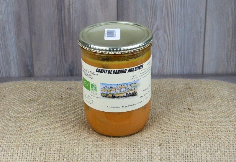 Confit de canard aux olives
