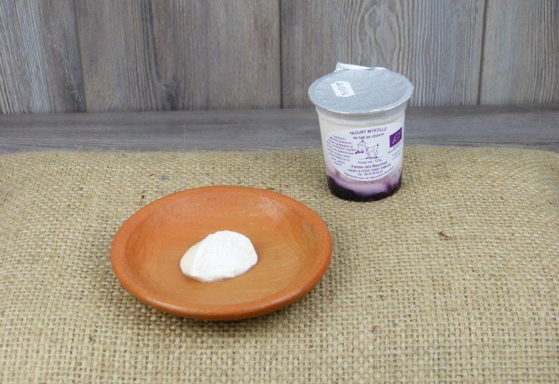 Yaourt myrtille lait de chèvre