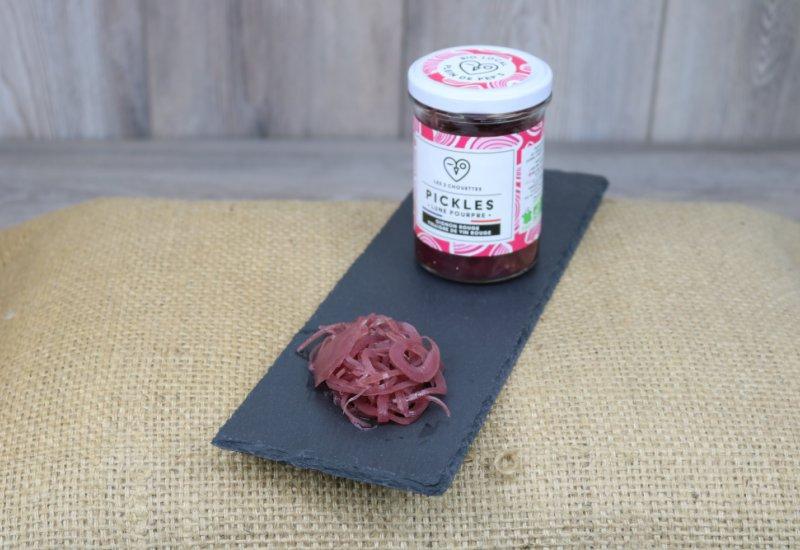 Pickles oignon-vinaigre rouge