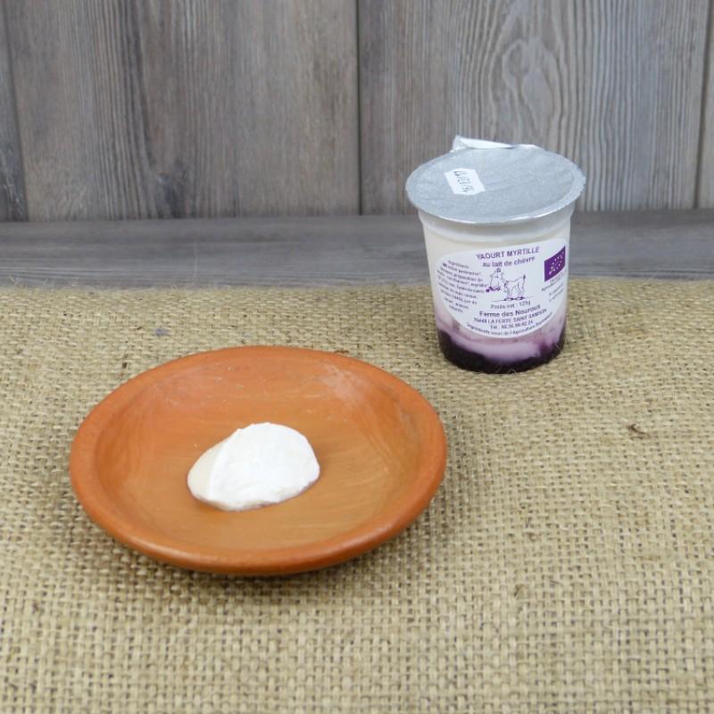 Orgaya yaourt myrtille lait de ch vre produit par ferme - Yaourt maison lait de chevre ...